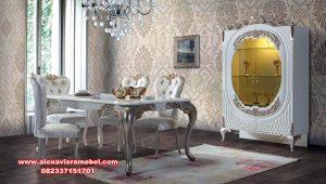Set meja kursi makan brigel elegant dan mewah Skm-171