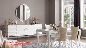 Set meja kursi makan modern duco bianco Skm-172