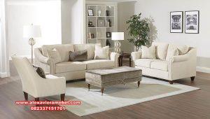 Sofa ruang tamu minimalis jati original model modern Srt-175