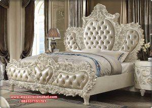 Tempat tidur duco classic ukiran mawar cantik Ks-140